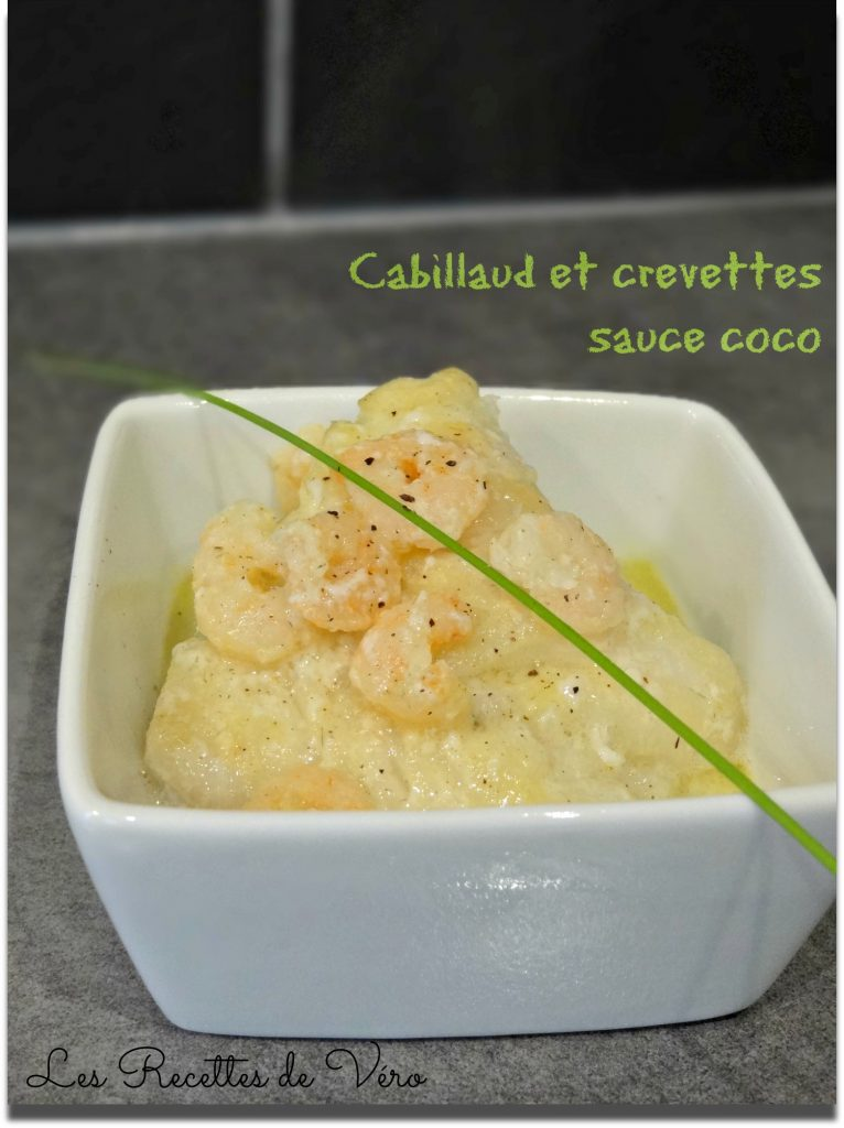 Cabillaud & crevettes sauce coco