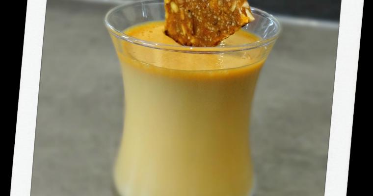 Panna cotta confiture de lait vanillé et sa nougatine