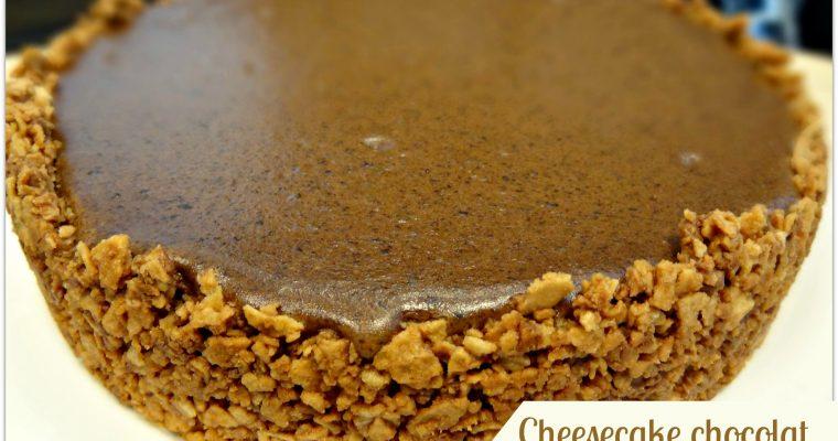 Cheesecake au chocolat et confiture de lait