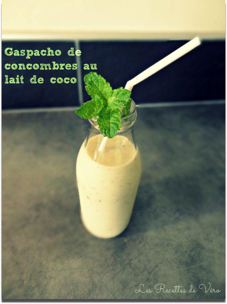 Gaspacho concombre coco cyril lignac