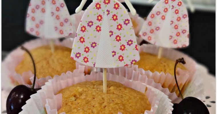 Cupcakes Matcha Cerises