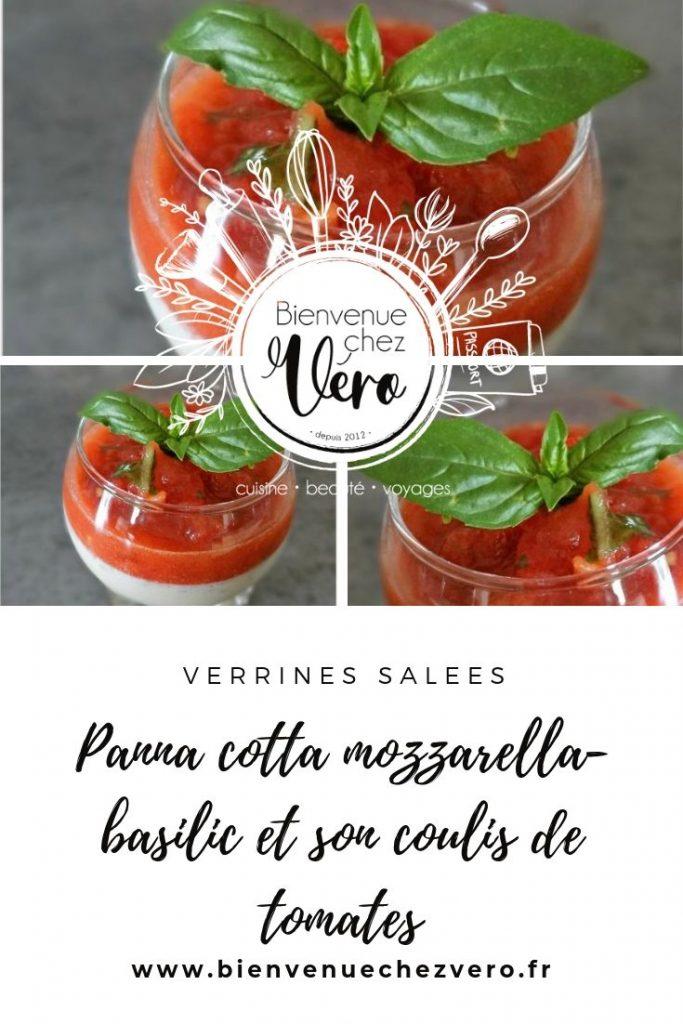Panna cotta mozzarella-basilic et son coulis de tomates - PIN IT