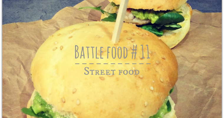Burger de poulet, et sauce salsa {Battle food #11}