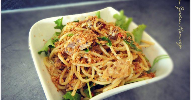 Spaghettis à la sardine façon Gordon Ramsay