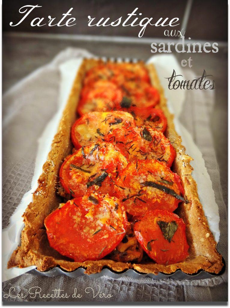 Tarte rustique aux sardines et tomates