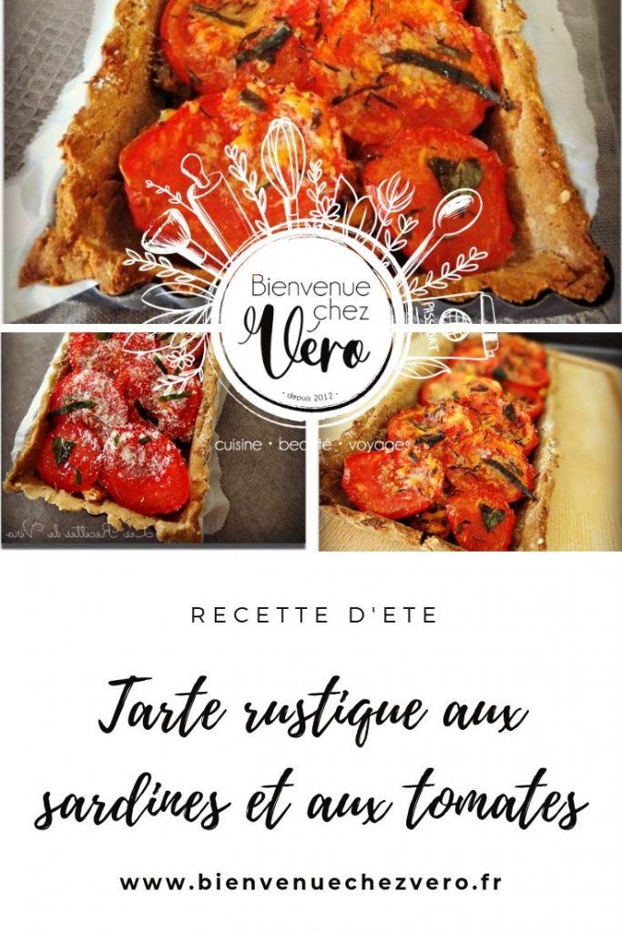 Tarte rustique aux sardines et aux tomates - Plat santé - PIN IT