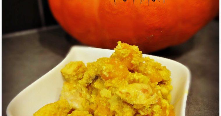 Curry de chou-fleur, poulet et potiron