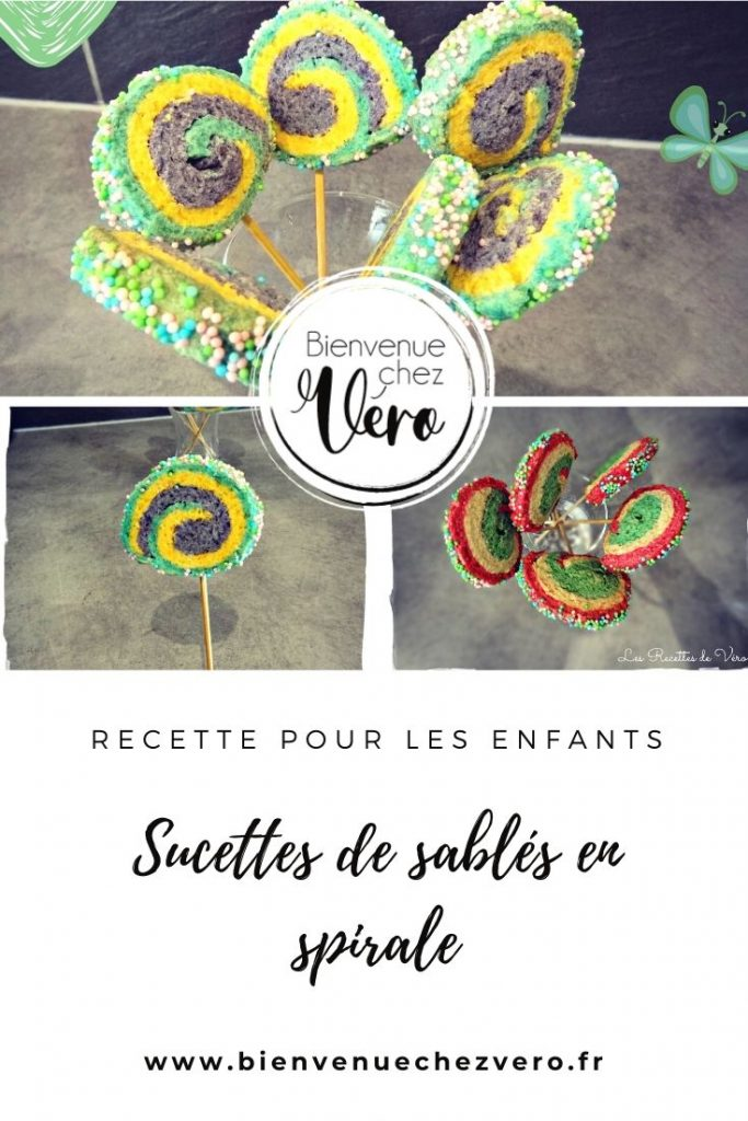 Sucettes de sablés en spirale - Bienvenuechezvero.fr