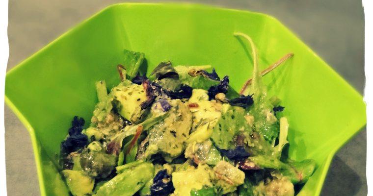 Salade avocat sardine coco