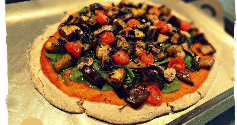 Pizza végétarienne sans gluten et sans caséine