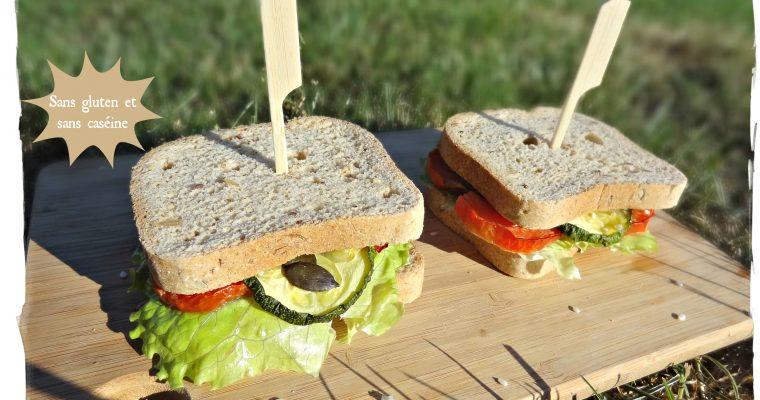 Sandwich d'été – Sans gluten et sans caséine