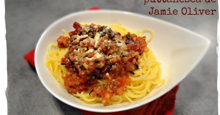 Spaghetti à la sauce puttanesca de Jamie Oliver {sans gluten, sans lactose}