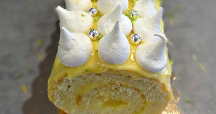 Bûche «façon tarte au citron meringuée»