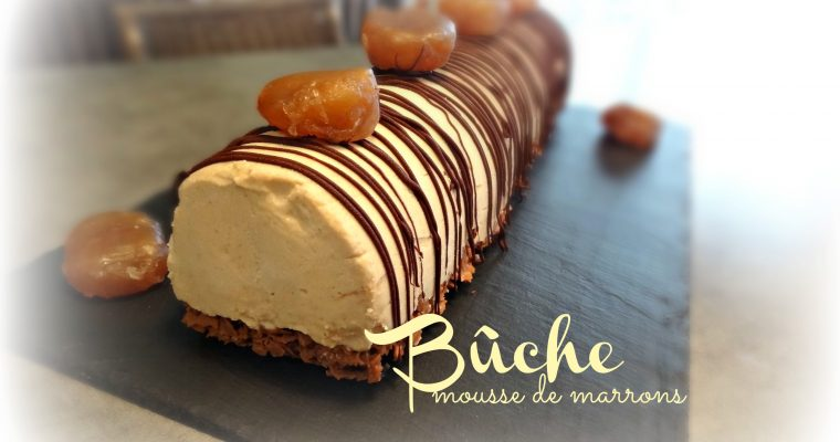 Bûche mousse de marrons