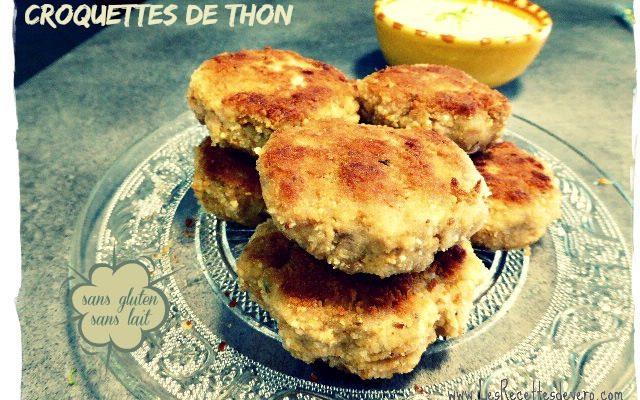 Croquettes de thon (sans gluten sans lait)