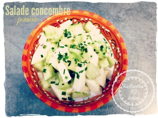 Salade de concombre-pomme