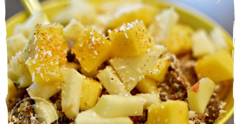 Pétales de sarrasin à la pomme et mangue