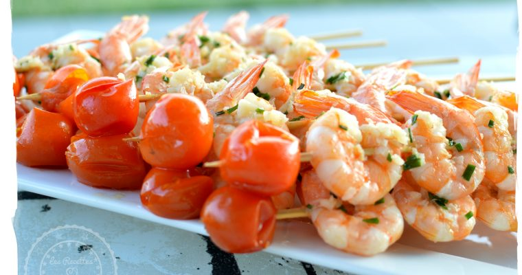 Brochettes de crevettes à l'ail – Omnicuiseur
