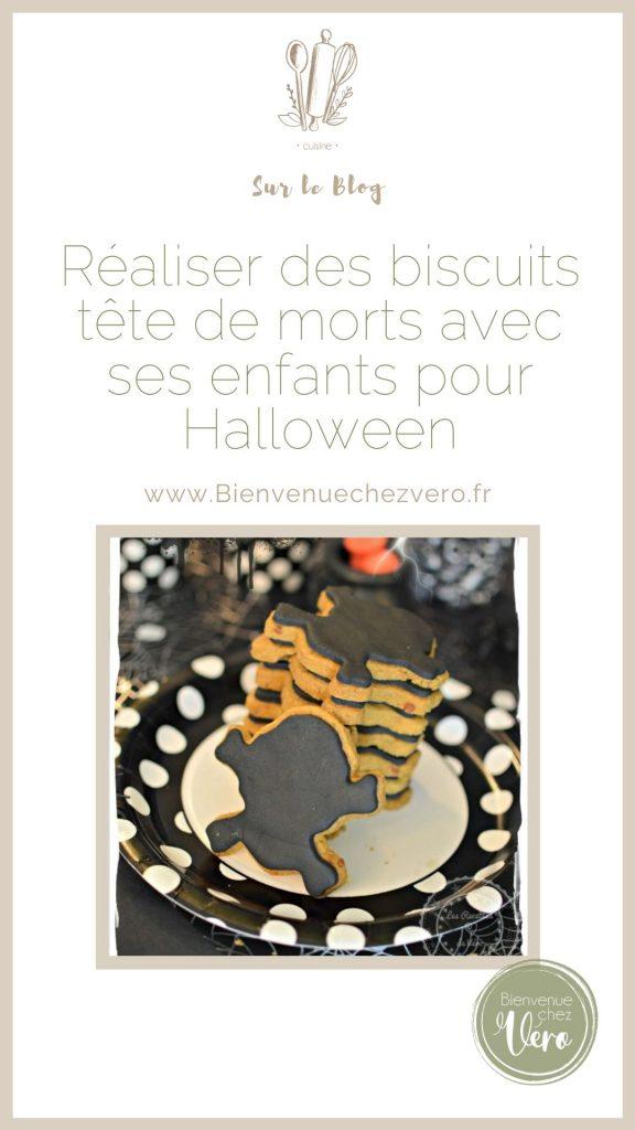 Réalises des biscuits tête de morts pour Halloween