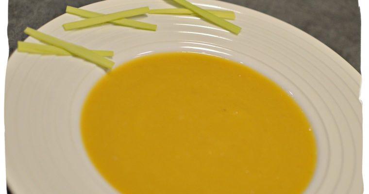 Soupe potimarron poireaux