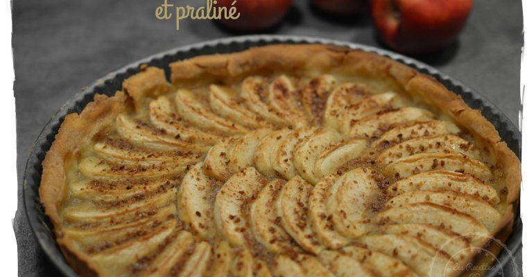 Tarte aux pommes et praliné