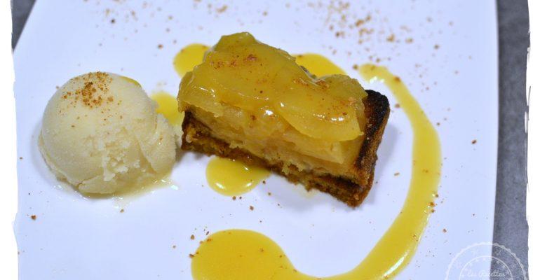 Pain perdu aux pommes et caramel au beurre salé (sans gluten et sans lactose)
