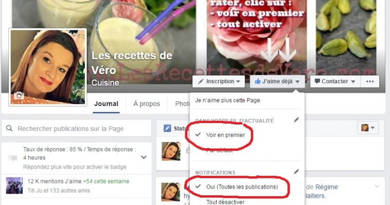 Mes publications sur Facebook