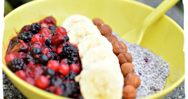 P'tit déj sain : Pudding de chia aux fruits
