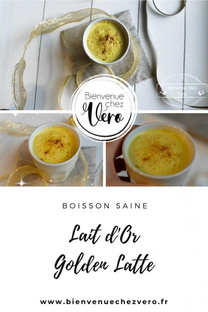 Lait d'or - Golden latte - Boisson saine - Bienvenuechezvero.fr