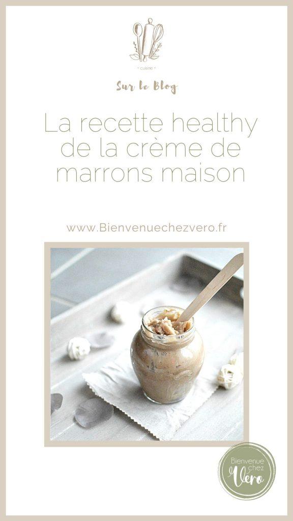 La recette healthy de la crème de marrons maison