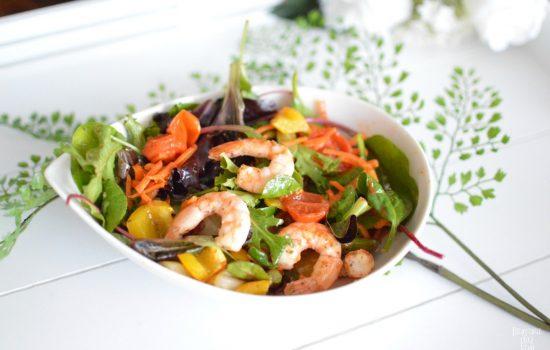 Salade de légumes grillés healthy