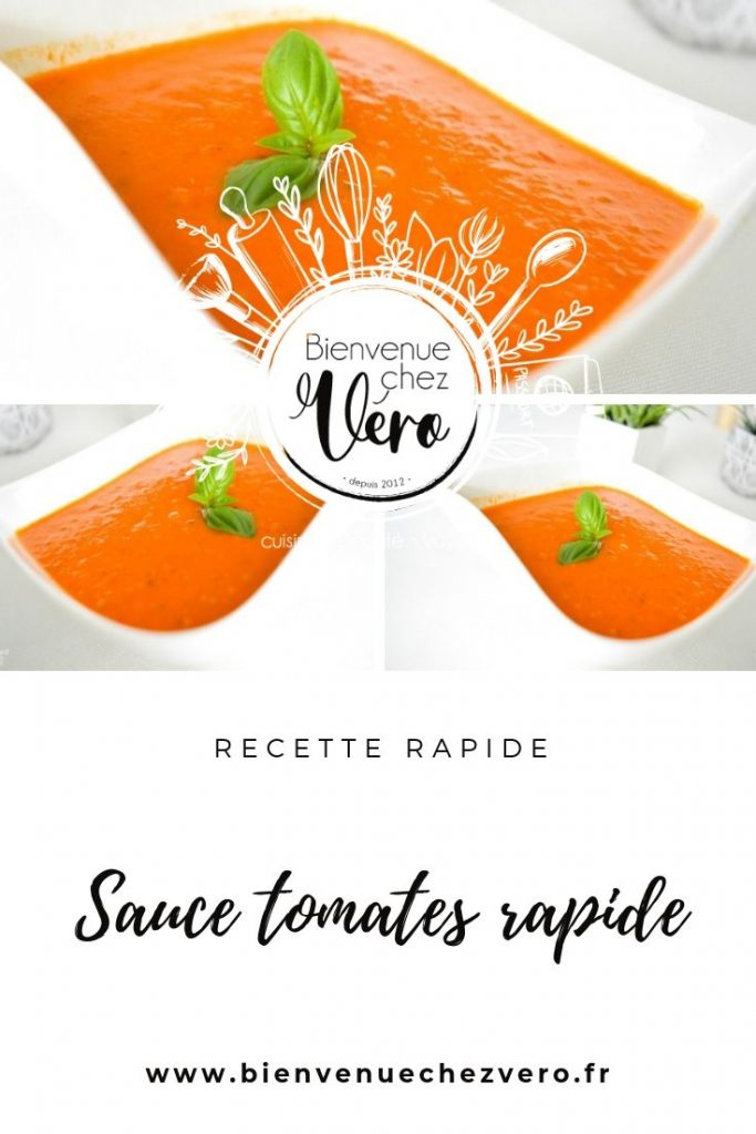 Sauce tomate rapide au basilic - PIN IT