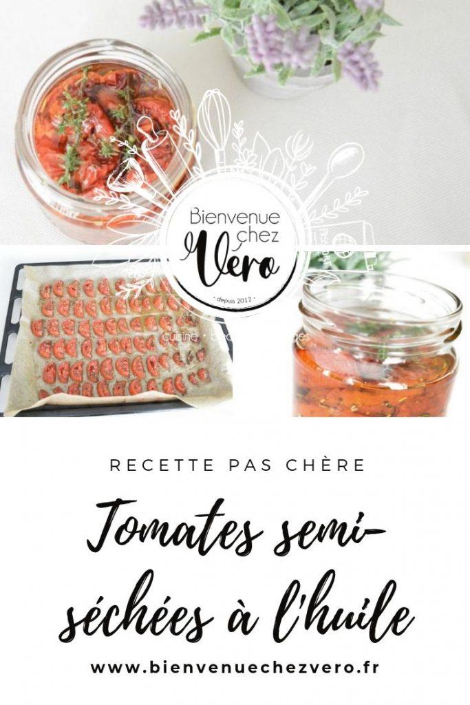 Tomates semi-séchées à l'huile - PIN IT