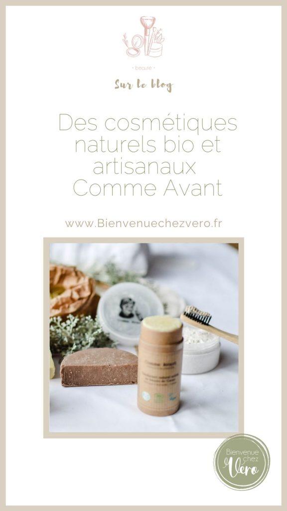 Affiche pinterest - des cosmétiques naturels et artisanaux de COmme avant