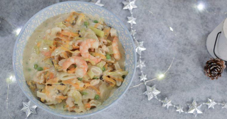 Marmite de fruits de mer aux petits légumes – Repas festif IG Bas