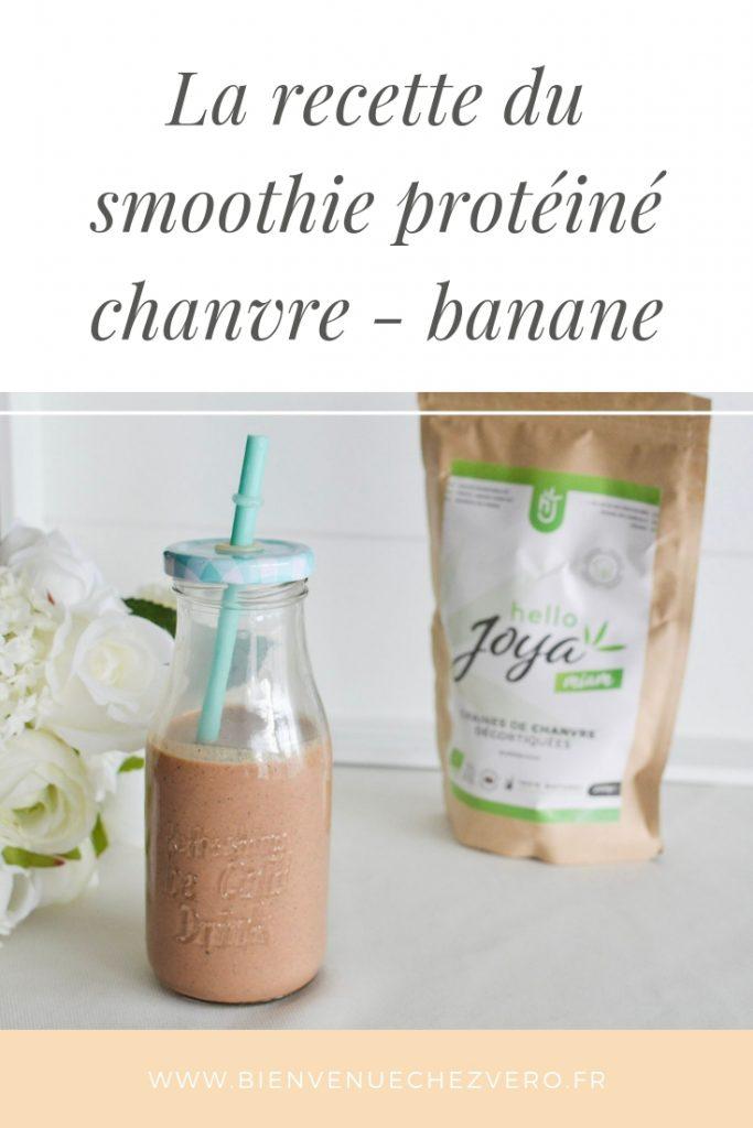 Bienvenue chez Vero - Smoothhie protéiné au chanvre et à la banane