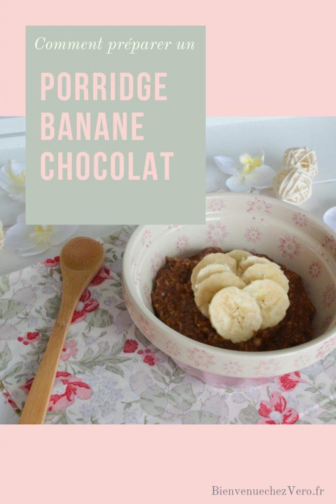 Comment préparer un porridge banane chocolat sans sucre