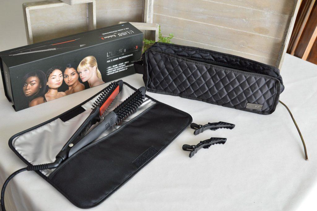 Des cheveux Lisses ou bouclés avec un seul appareil - contenu du coffret - Bienvenue Chez Vero