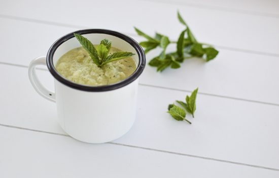 Recette fraîcheur : Gaspacho concombre menthe