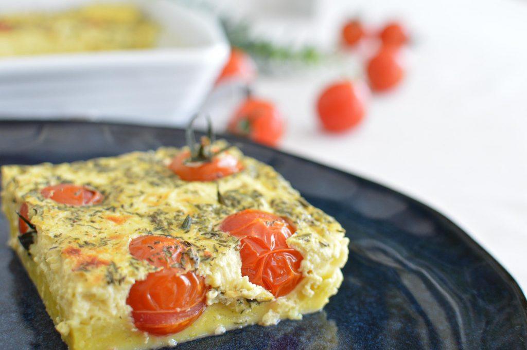 Part de Clafoutis tomates cerises - Omnicuiseur - Bienvenue chez vero (1)
