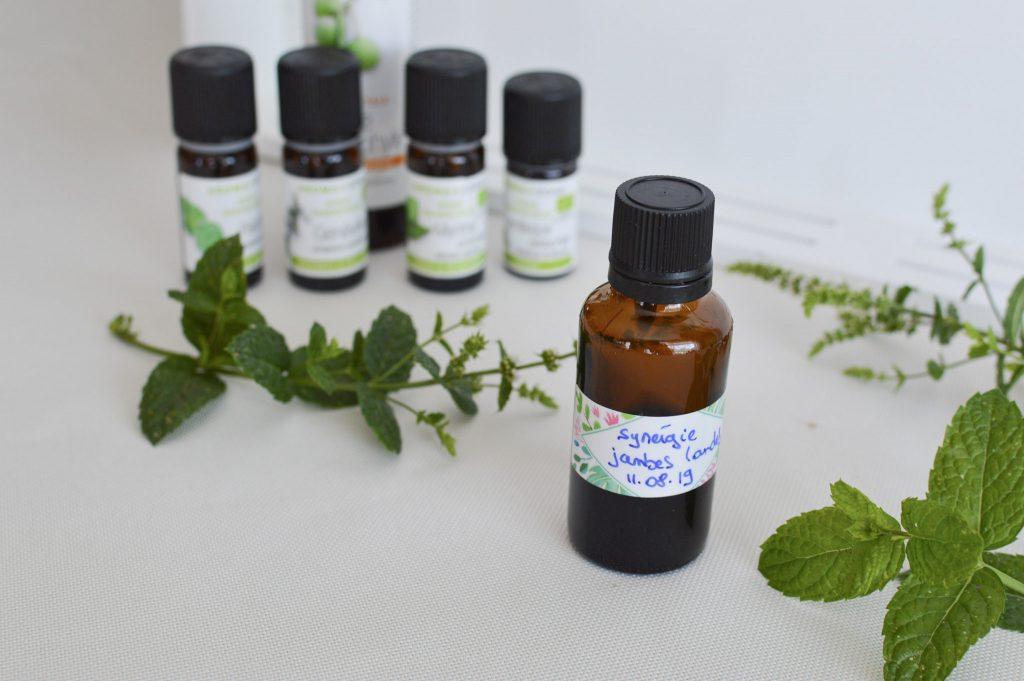 Synergie Jambes Lourdes aux huiles essentielles - DIY - Bienvenue chez Vero