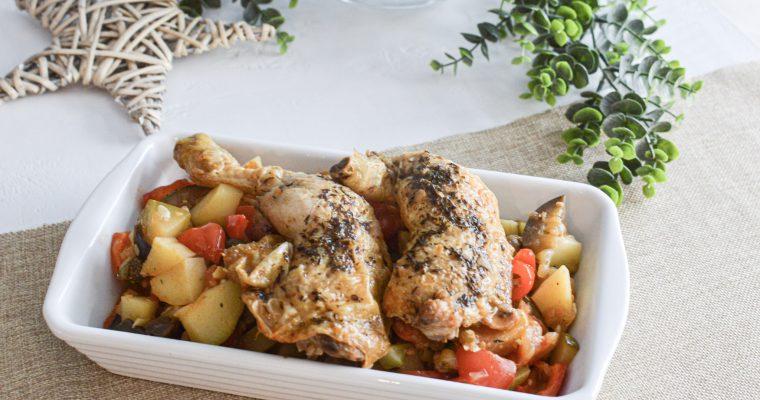Cuisses de poulet et ratatouille