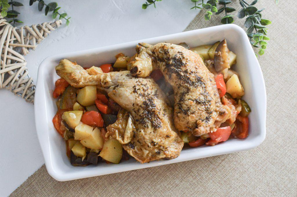 Cuisses de poulet et ratatouille - Plat Batchcooking du lundi