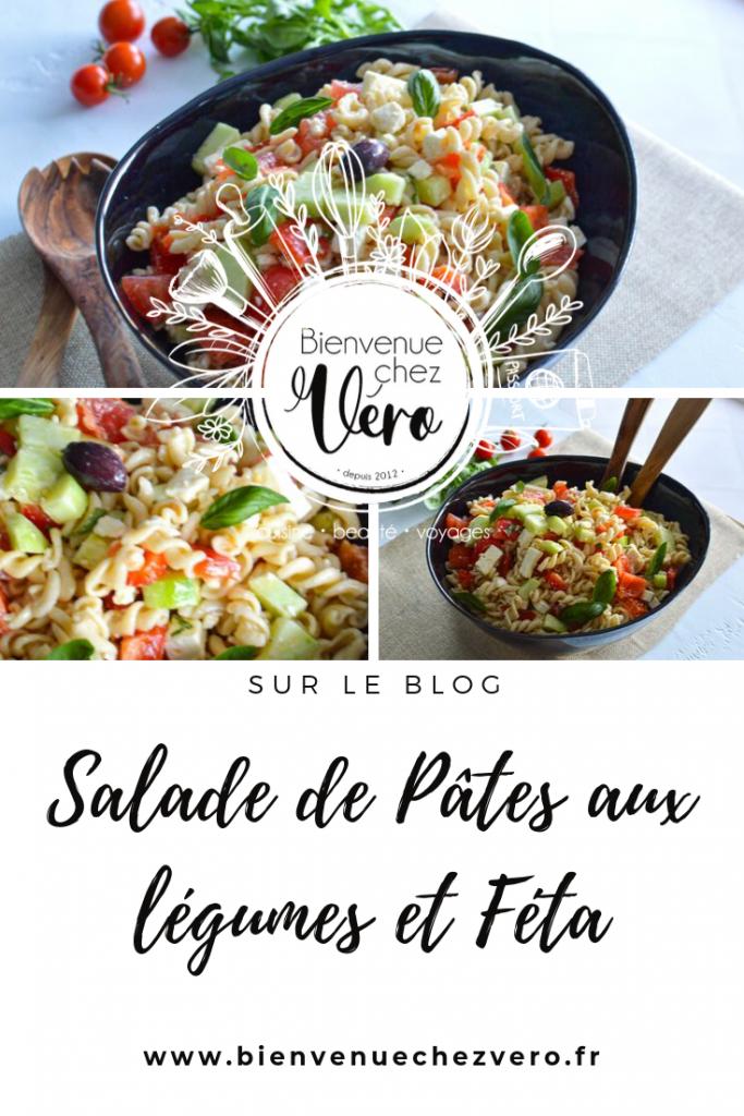 Salade de pâtes aux legumes et Feta - Bienvenue chez vero