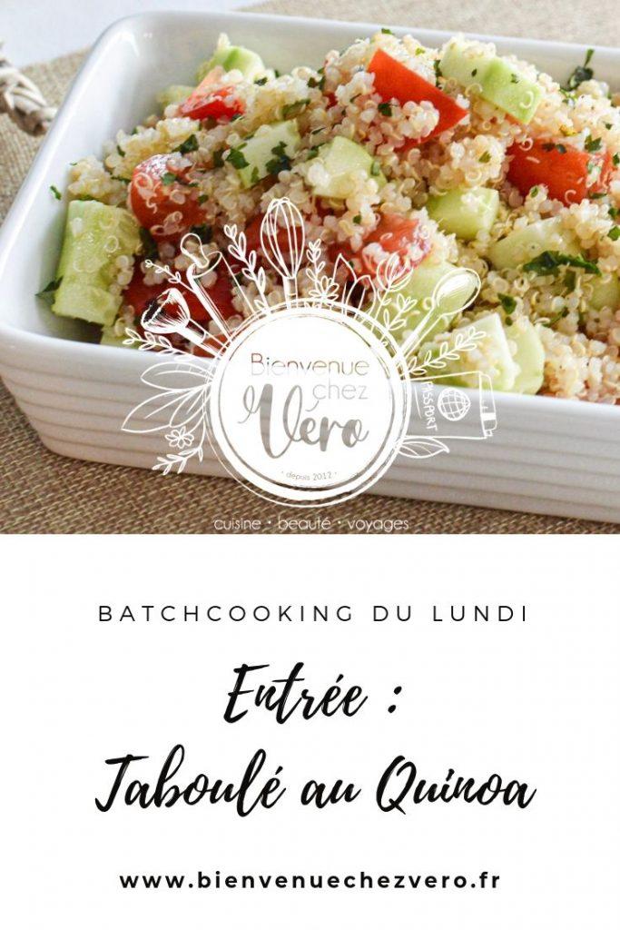 Taboulé au quinoa - Batchcooking lundi - PIN IT