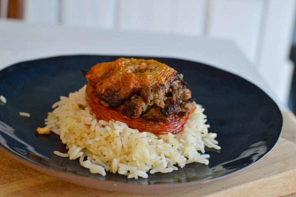 Tomates farcies et riz - Bienvenue chez vero