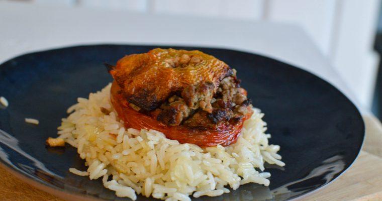 Tomates farçies et riz