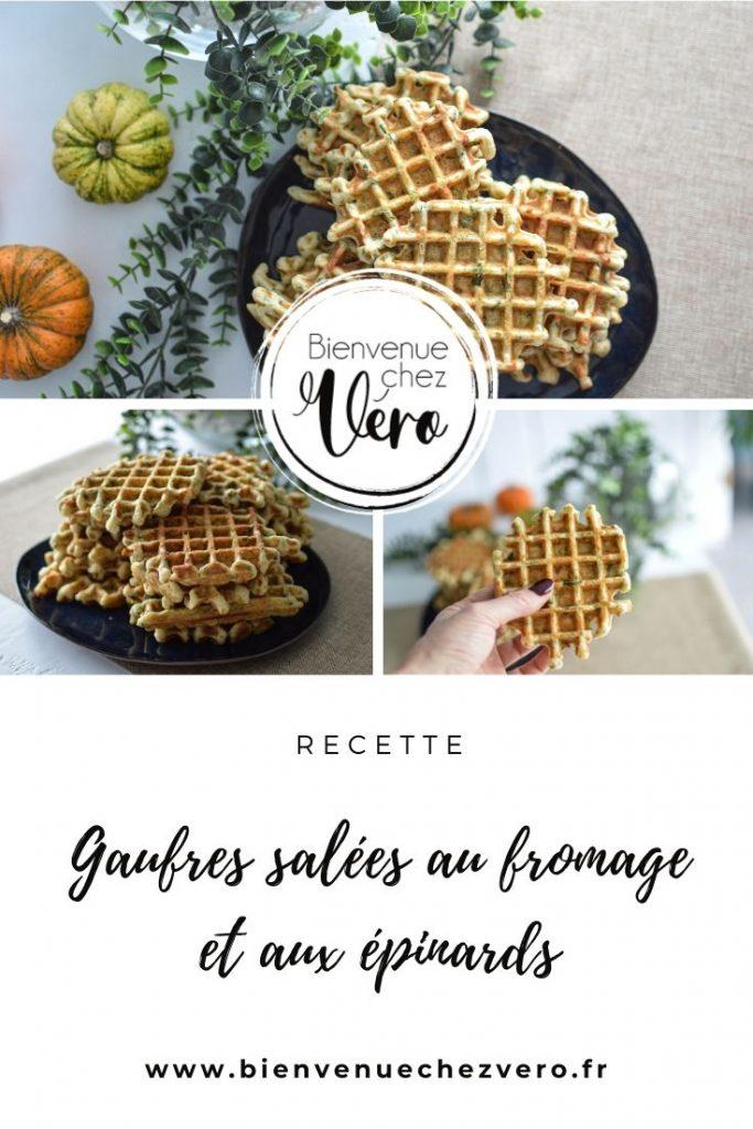 PIN IT - Gaufres salées fromage et épinards - Bienvenuechezvero.fr