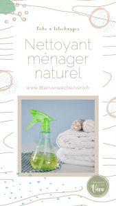 Nettoyant ménager naturel