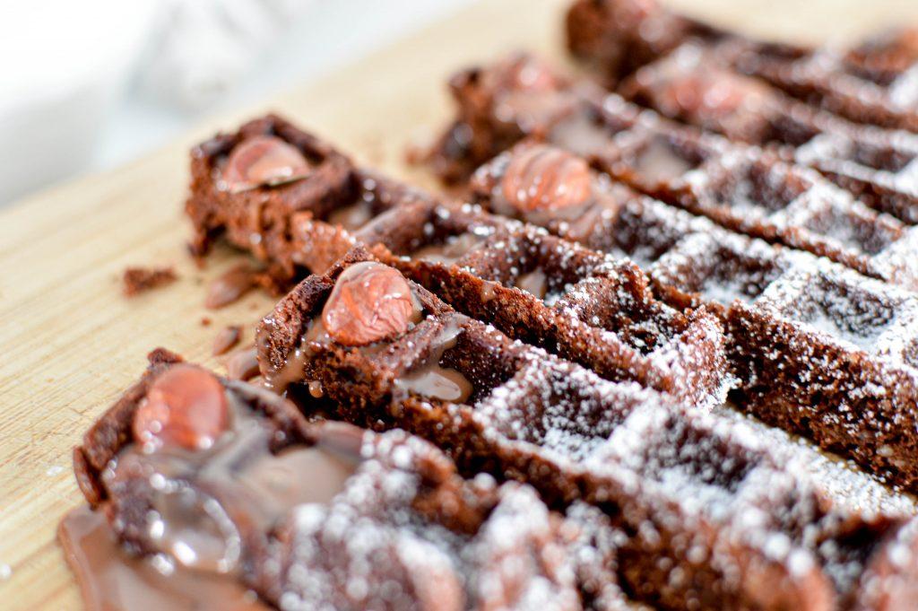 Zoom sur les brownies gaufres